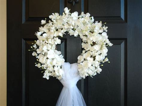 Wedding wreath summer wreath front door wreaths outdoors