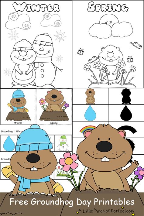 groundhog day free groundhog day free printables coloring pages