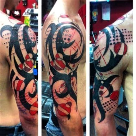 9 abstract tattoos on half sleeve
