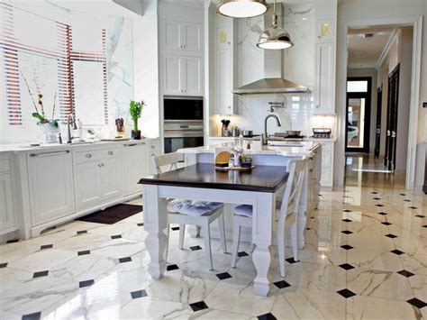 Marble Kitchen Floor Kitchen Flooring Ideas Interior Design Styles And Color Schemes For Home Decorating Hgtv