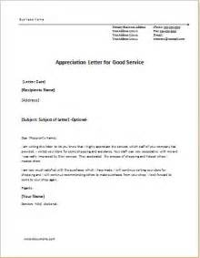 Great Service Letter 6 Appreciation Letter Templates For Ms Word Document