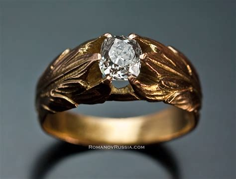 antique gold diamond men s rings sale vintage russian