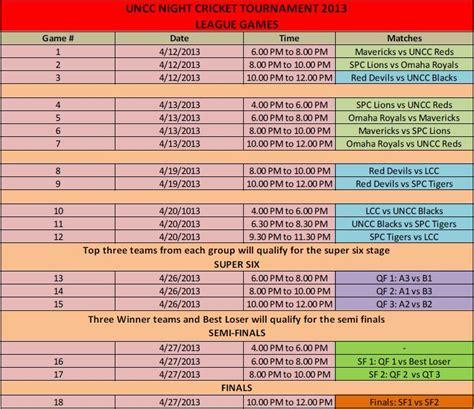 of nebraska lincoln schedule schedule uncc of nebraska cricket club
