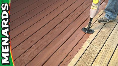 refinish a deck how to menards