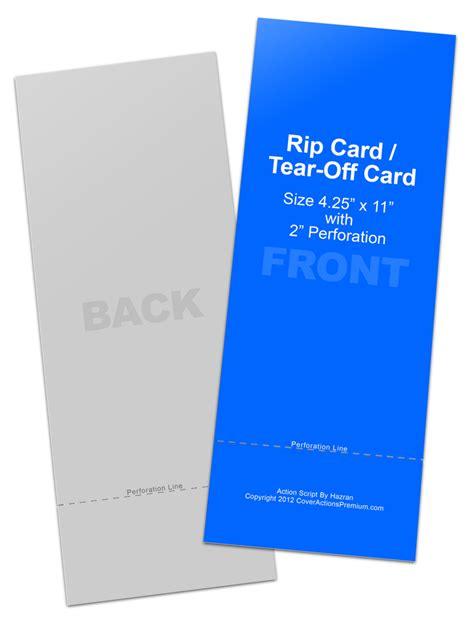 rip card template rip card tear card mockup cover actions premium