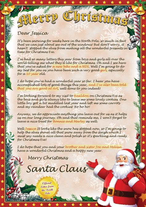 Custom Letter Art Template Learnhowtoloseweight Net Custom Letter From Santa Template