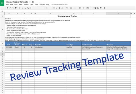 document tracker template course review tracking template experiencing e learning