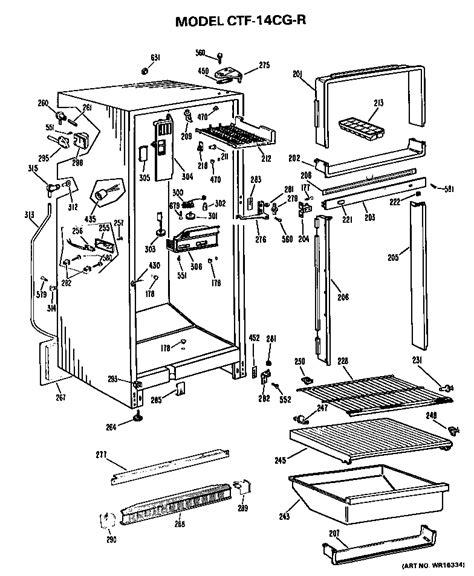 hotpoint hotpoint refrigerators parts model ctfcgrl