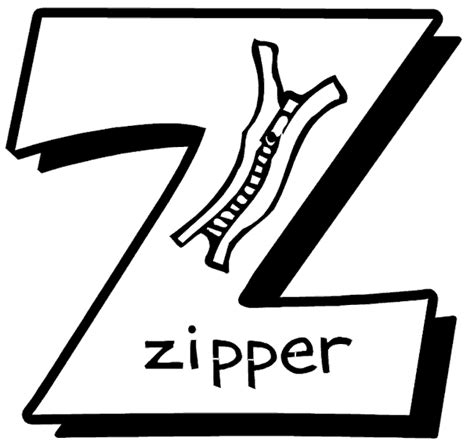 letter z coloring page