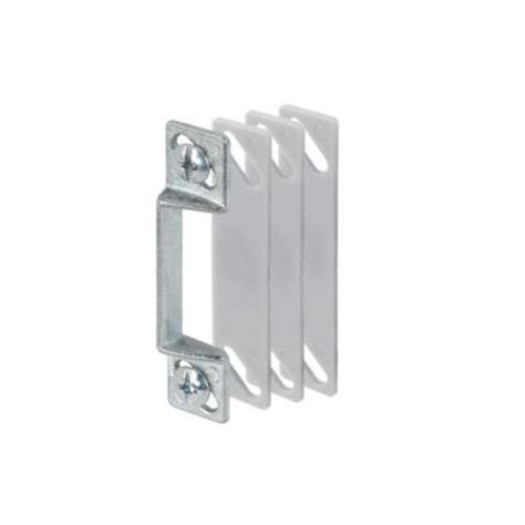 prime line screen door strike plate 1 4 in with shims
