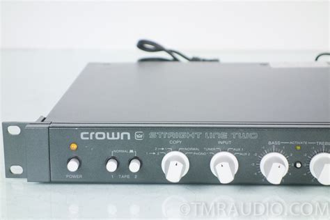 Crown Straight Line Two SL 2 Stereo Preamplifier Rack