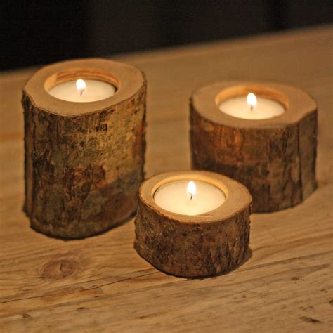 tea light holder tree branch tea light holders set of three by the wedding
