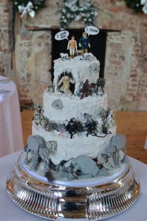 """Star Wars """"battle Of Hoth"""" Wedding Cake Models Supplied By"""