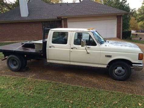 1988 ford f350 1988 ford f350 crew cab custom flatbed with goose neck hookup