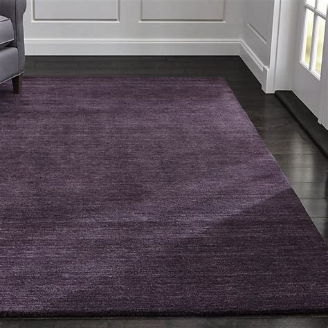 Purple Area Rug 8x10 Baxter Plum Purple Wool Rug Crate And Barrel