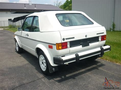 awesome 1985 volkswagen cabriolet 28k white