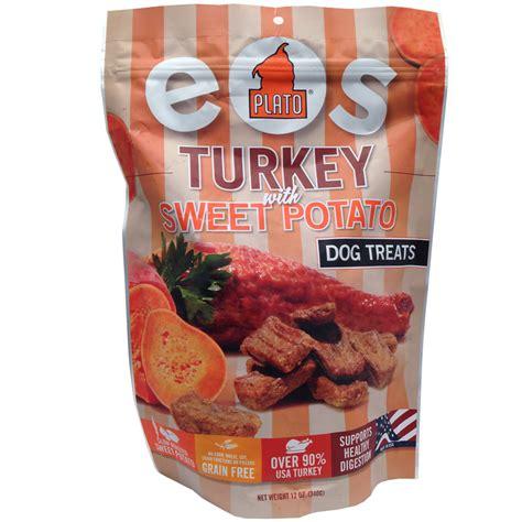 plato treats plato eos turkey pumpkin treats 12 oz entirelypets