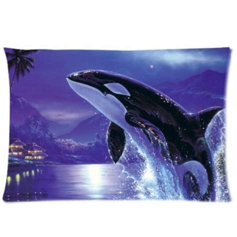 killer whale soft orca killer whales best gift 50x75cm pillow cover for room