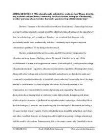 Writing An Essay For Scholarship by Sle Scholarship Essays