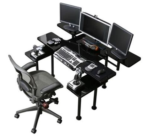 Roccaforte Ultimate Gaming Desk Roccaforte Ultimate Desk Gamer S Only Pinterest