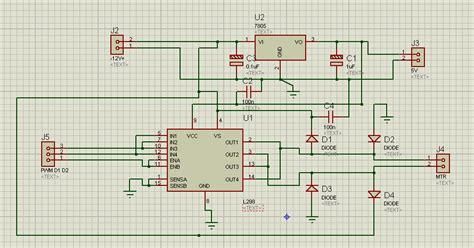 diode bridge in proteus the custom made motor controller driver circuit using l298