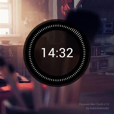 rainmeter themes clock 011 huawei like clock for rainmeter by braindefender on