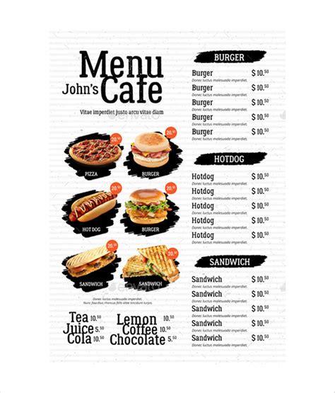 simple restaurant menu template 35 cafe menu templates free sle exle format