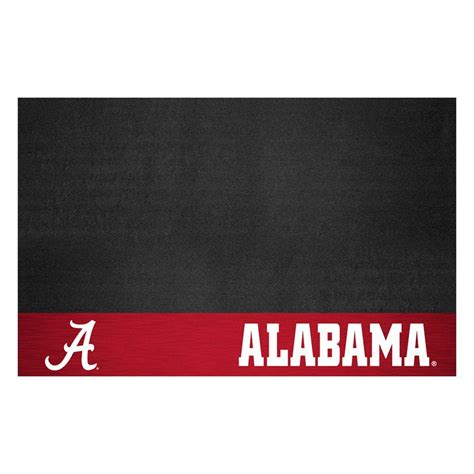 fanmats of alabama 26 in x 42 in grill mat