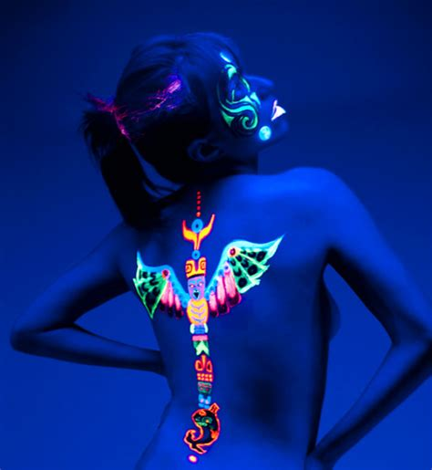 glow in the dark tribal tattoos glow in the tattoos