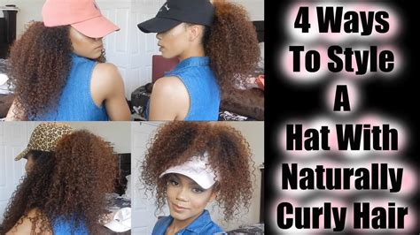 haired in a hat 4 ways to style a hat with naturally curly hair kenzey