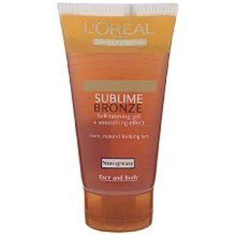 best face tanning l reviews l oreal sublime bronze self tanning gel for face and body
