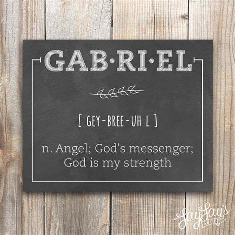 personalized name definition wall print baby name