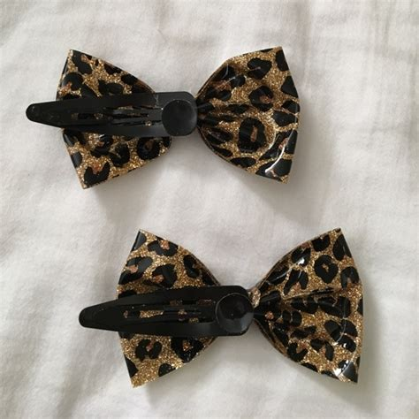 Leopard Hair Clip topic two vinyl leopard print hair from
