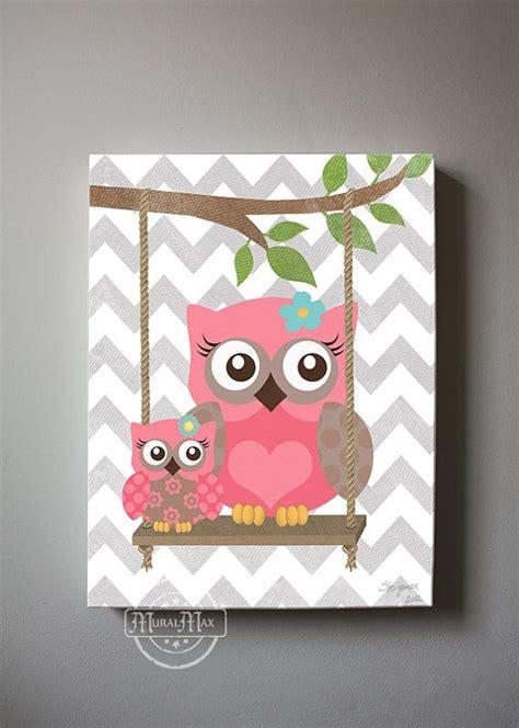 owl decorations for bedrooms owl decor girls wall art owl canvas art baby nursery