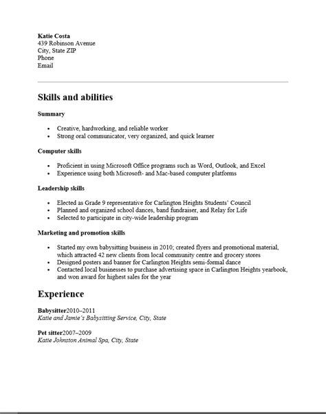 sle high school resume doc free functional high school student resume template