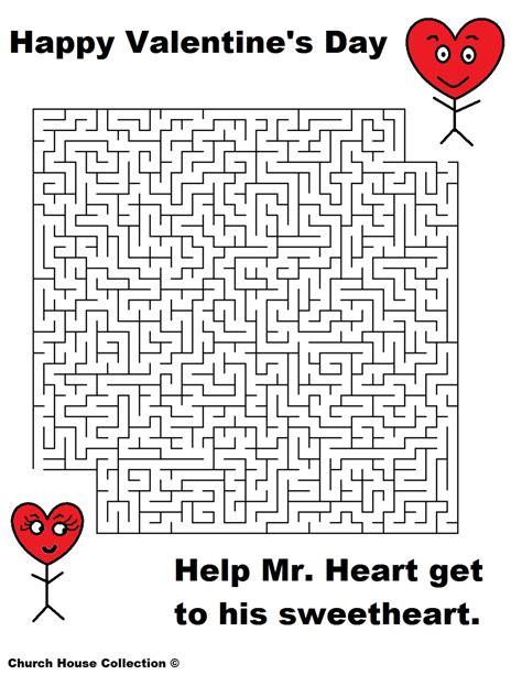 printable valentine s maze valentine s day mazes for school