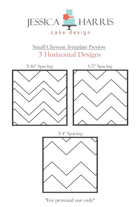 Small Chevron Cake Template Free 3 Designs Jessica Harris Cake Design Template Design Pattern