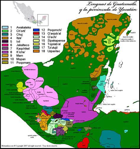 language el guatemala belize mapa 252 237 stico linguistic map