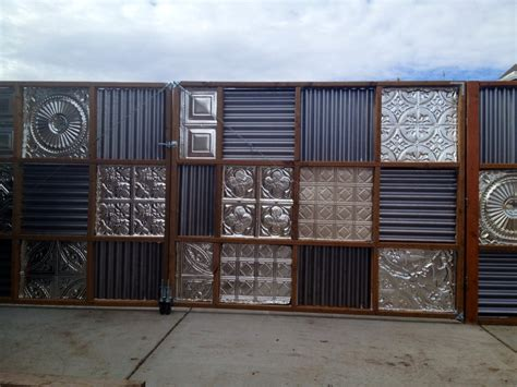 decorative panel fence decorative corrugated metal fence panels design ideas