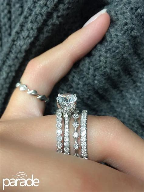 Wedding Ring Stack by 25 Best Ideas About Stacked Wedding Bands On
