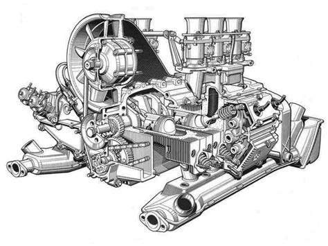 doodle engine engine technical drawing engine drawings pelican parts