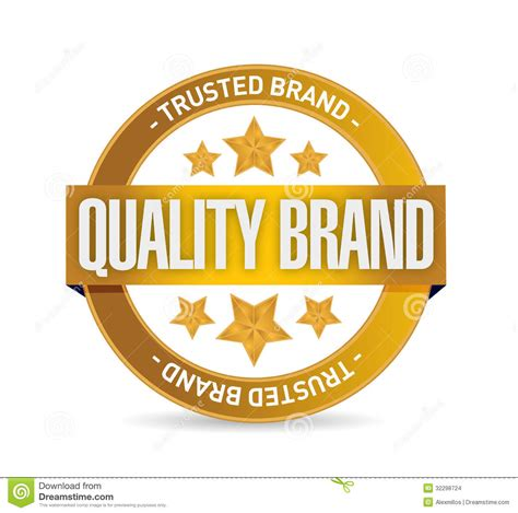 Quality Brands by Quality Brand Seal St Illustration Design Stock Images