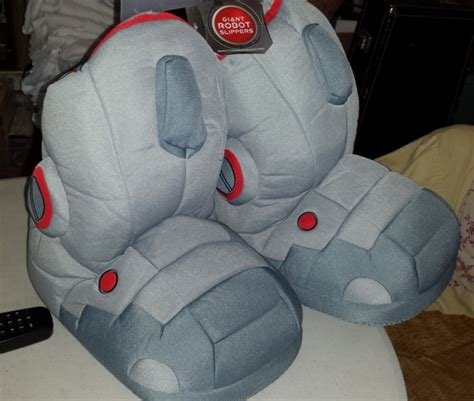 robot slippers with sound robot slippers apparently i can t be trusted with