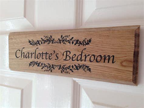 Bedroom Door Plaques Uk Personalised Oak Signs Personalised Garden Signs