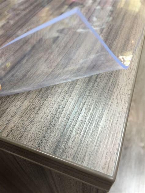 pvc pour table de protection nappe verre clair
