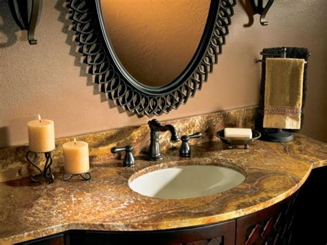 granite countertops in bathroom bathroom countertop ideas hgtv