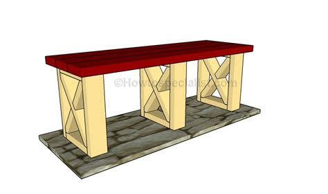 plans for park bench park bench plans howtospecialist how to build step by