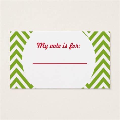 ballot cards template sweater voting ballot business card