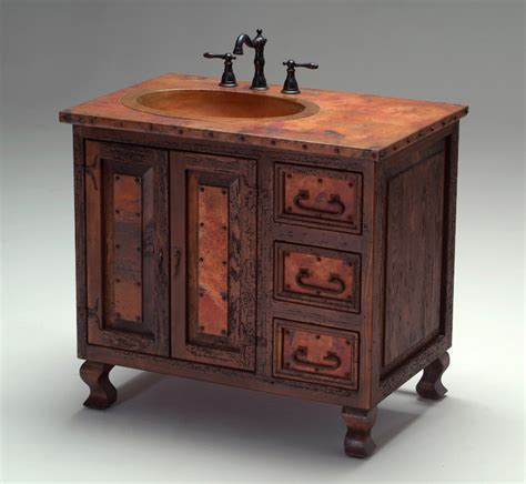 western style bathroom vanities old world copper vanity mediterranean bathroom