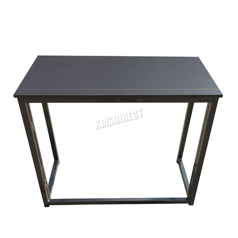Laptop Folding Desk Foxhunter Foldable Computer Desk Folding Laptop Pc Table Home Office Cd03 Black Ebay
